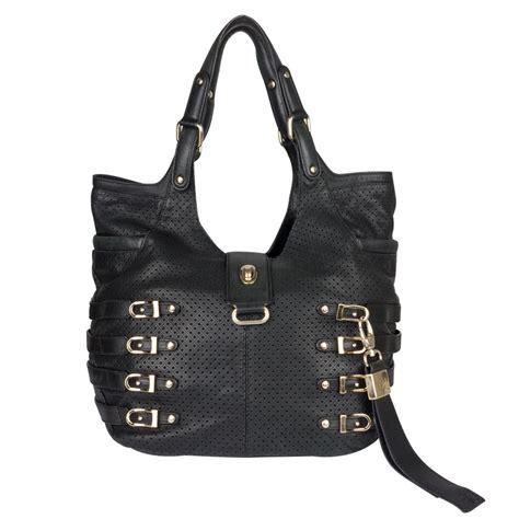 Jimmy Choo Rikki Perforated Handbag by Jimmy Choo Black Perforated Leather Tote My Luxury