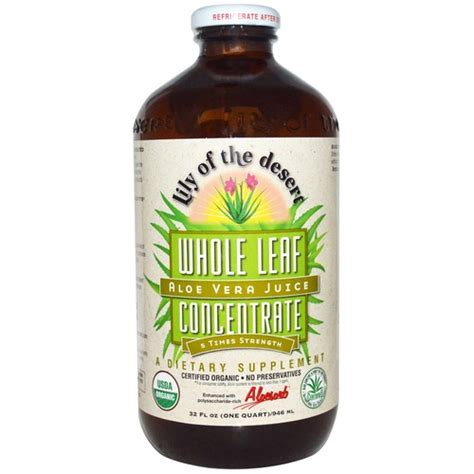 Aloe Vera Juice Detox Review by Of The Desert Aloe Vera Juice Whole Leaf Concentrate