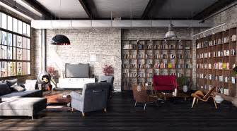 Open Shelf Bookcase Room Divider - industrial design inspiring lofts with industrial style decor home and decoration