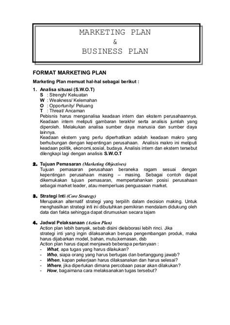 contoh membuat makalah business plan marketing plan