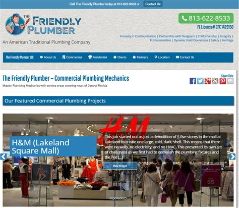 Friendly Plumbing by The Friendly Plumber Launches New Website And Showcases