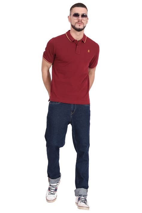 Oliveinch Polo Shirt Maroon M plain cotton maroon polo t shirt for by blueaura