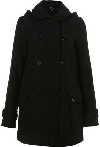 Fashion Dislike Alert Harem Begone by Topshop Black Breasted Hooded Coat 10 Winter
