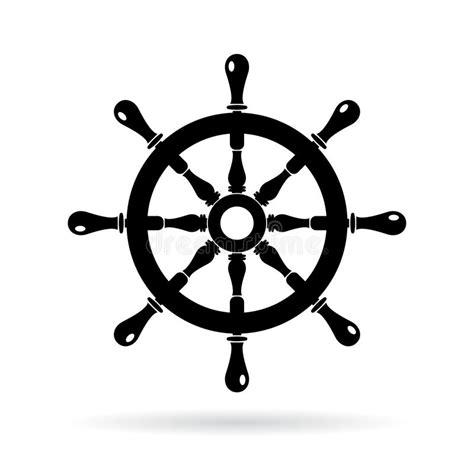 boat steering wheel free vector boat steering wheel vector icon stock vector image 84190110