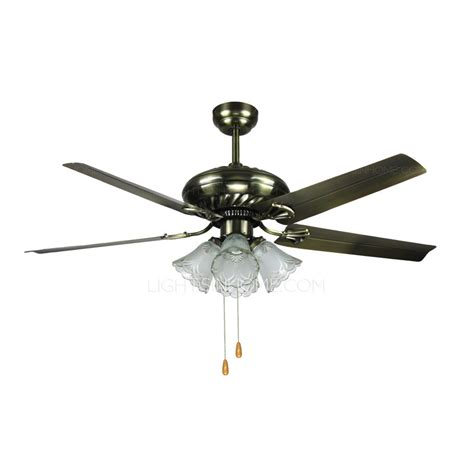 vintage ceiling fan with light five blade five lights metal vintage ceiling fans with