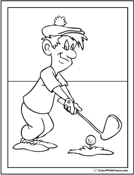 golf coloring pages golf coloring pages customize and print pdf