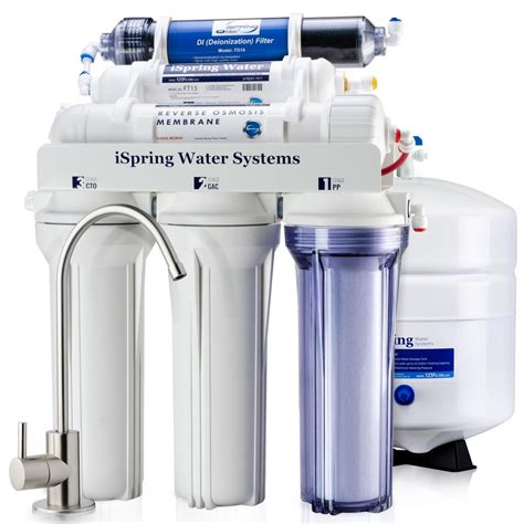 Sink Osmosis Water Filter System by Ispring 6 Stage 75gpd Sink Osmosis Water