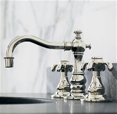restoration hardware kitchen faucet southern chateau house jewelry polished nickel faucets
