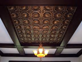 faux tin ceiling tile 106 antique copper flickr photo