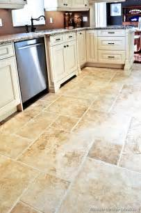 tiled kitchen floors ideas kitchen cabinet dilemma white or brown