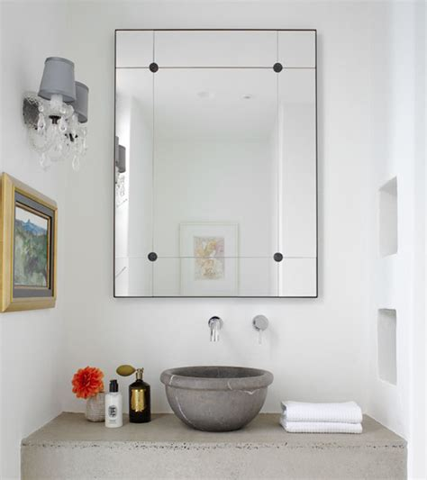 floating concrete bathroom sink design ideas