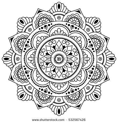 mandala pattern sketch vector henna tatoo mandala mehndi style decorative