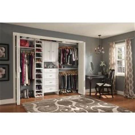 Closetmaid Custom Closet Closetmaid Selectives 25 In White Custom Closet Organizer