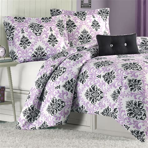 mizone katelyn twin comforter set purple free shipping
