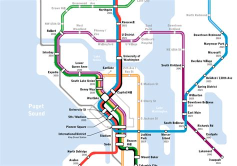 seattle link light rail map map of the week seattle subway vision map 187 the urbanist