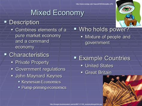 exle of market economy types of economies ppt