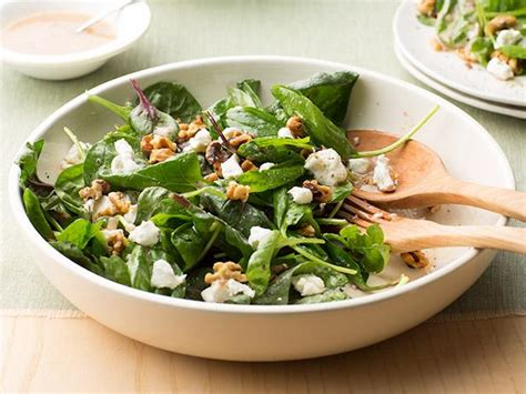 goat cheese salad spinach salad with goat cheese and walnuts recipe food
