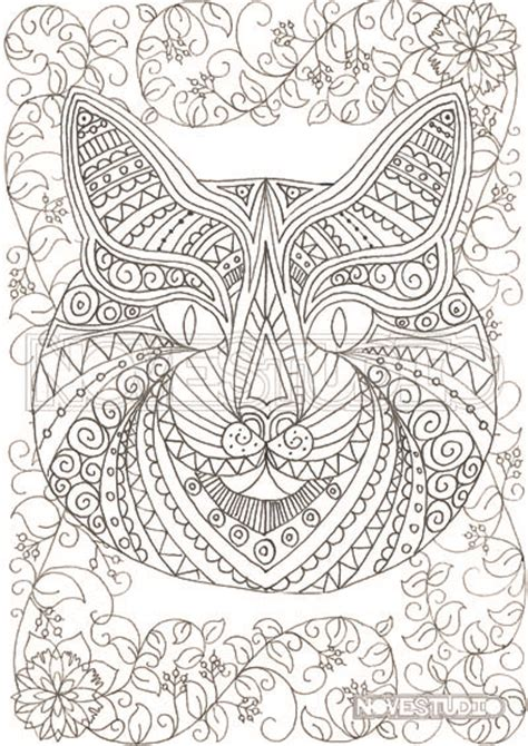 cat themed adult colouring pages ingrid s haven madeit