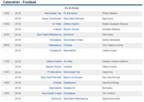 Calendrier Des Matchs De Chelsea Calendrier Ligue Des Chions 2013 2014 R 233 Sultats Dates