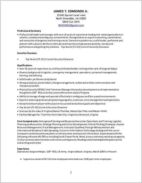 to civilian logistics resume resume resume