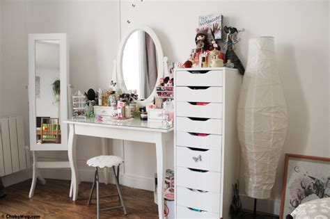 room tour ma coiffeuse mon coin make up et coiffure