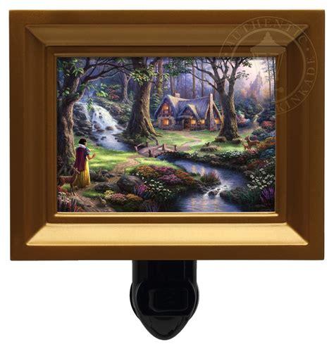 snow white discovers the cottage snow white discovers the cottage nightlight gold frame