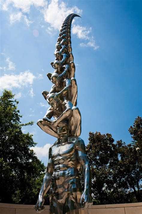 new orleans museum of sculpture garden statues of blinded ascending high into the sky my