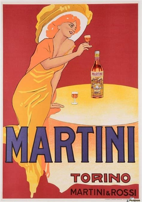pink martini poster martini vermouth torino poster vintage poster canvas