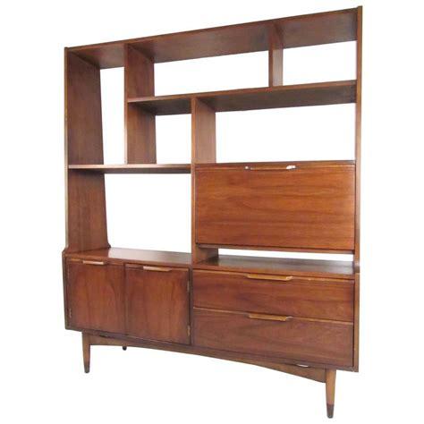 Mid Century Room Divider Mid Century Modern Walnut Bookshelf Room Divider At 1stdibs