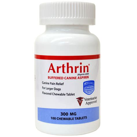 buffered aspirin for dogs arthrin 174 buffered canine aspirin 300 mg for larger dogs chewable tablets