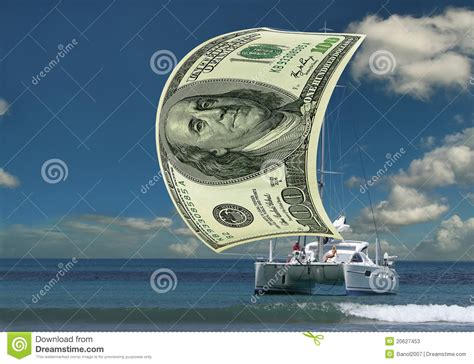 yacht money sailboat money sail stock image image of blue luxurious