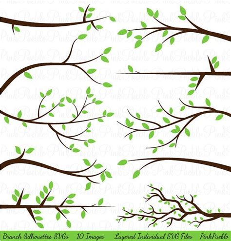 templates tree photoshop branch silhouettes svgs limbs and branches cutting