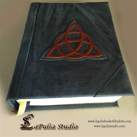 Book Of triquetra blank book of shadows witchcraft book of magic