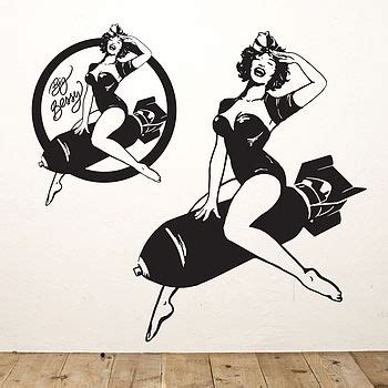 Airplane Wall Mural pin up big bessy wall sticker