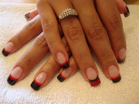 Nägel Rot Schwarz 4663 by And Black Nail Www Pixshark Images