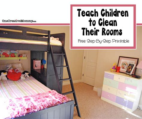How To Clean A Room by How To Teach Children To Clean Their Bedroom Onecreativemommy