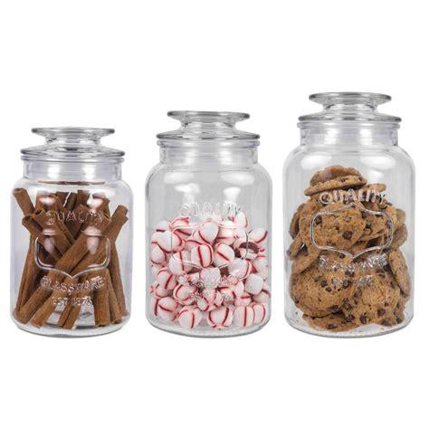 home basics 35 oz 45 oz and 53 oz glass canister set