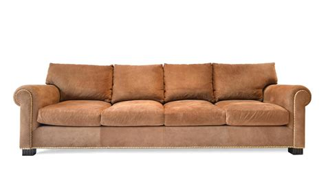 suede rolled arm sofa by ralph for sale at 1stdibs