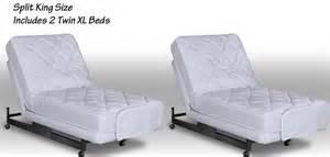 King Size Bed Split Mattress Adjustable Split King Beds 2 Size Beds