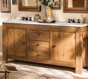 stella sink console weathered pine finish