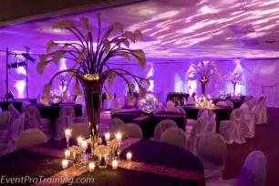 black and purple wedding decorations