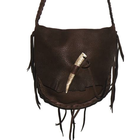mountain leather possibles bag purse 2 compartments