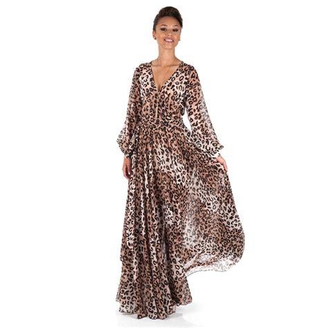 Maxi Dress Leopard leopard print maxi dress www shoxie maxi dresses