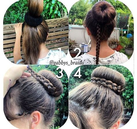 hairstyles with a hair donut best 25 donut bun ideas on pinterest hair donut styles