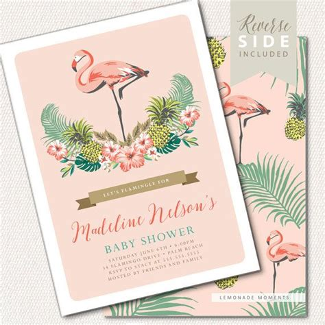 Luau Themed Baby Shower Invitations by Best 25 Hawaiian Baby Showers Ideas On Hawaiian Baby Tropical And Flamingo