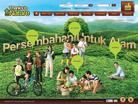 Teh Kotak Ultrajaya thanks to nature teh kotak ultra jaya on behance