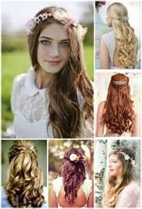coiffures pour un mariage de printemps