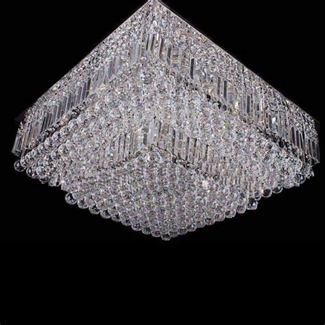 S New Flush Mount Modern Crystal Chandelier Lighting Flush Mount Chandelier Modern