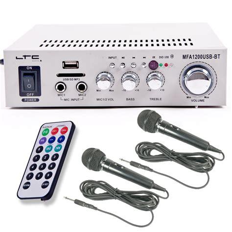 Skytronic Av 120fm Stereo Karaoke 2 X 60 Watt Fm stereo verst 228 rker mit usb preisvergleiche