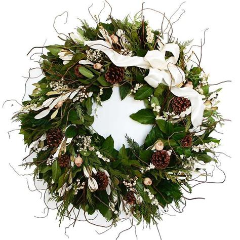 winter white fresh christmas wreath christmas decor